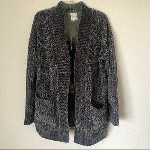 Hippie Rose Soft Grey Cardigan with Pockets